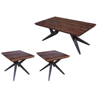 Contemporary Faunia End Table & Coffee Table Combo Set - 3 Pieces For Sale