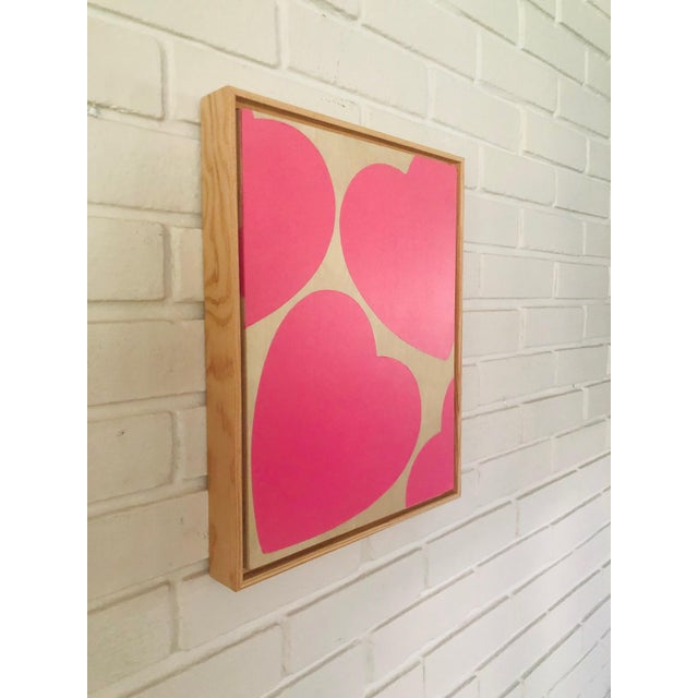 """Titled: """"LOVE YOU ALWAYS"""" Original Pink Modern Painting by Artist Tony Curry. Hand Painted on professional cradled wooden..."""