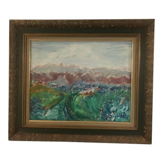 Abstract Oil Painting of the Rockies on Canvas For Sale