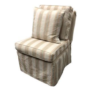 Fitzgerald Billy Baldwin Slipper Chair With Custom Skrt Cover