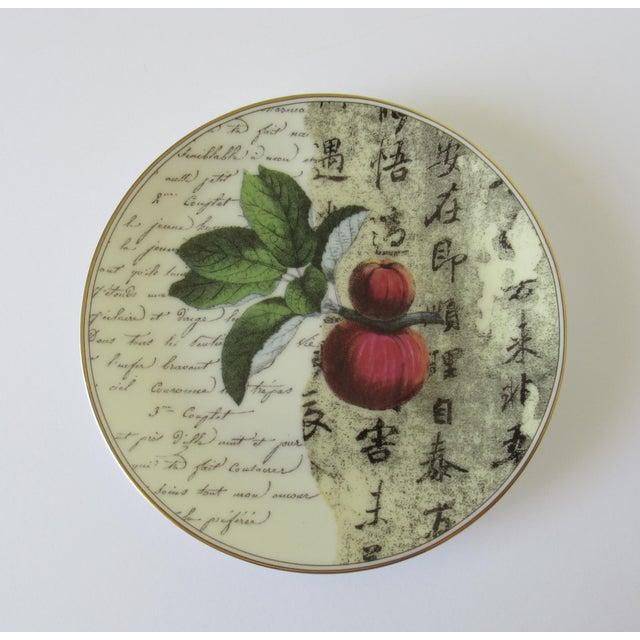 "Ceramic Bernaradaud Limoges ""Peosie"" Canapé Plates - Set of 6 For Sale - Image 7 of 13"
