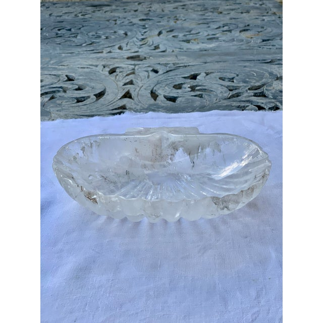 A gorgeous and luxurious hand carved rock quartz shell dish. A perfect catchall bowl, large ring dish or accent piece for...