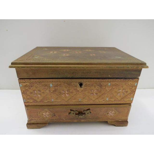Florentine Gold Jewelry Box - Image 7 of 8