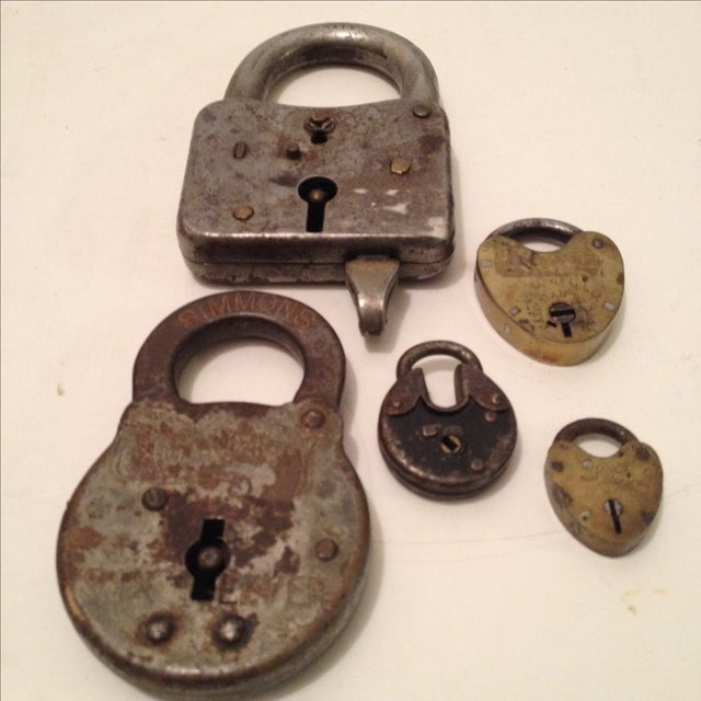 Assorted Antique Locks - Set of 5 - Image 2 of 6
