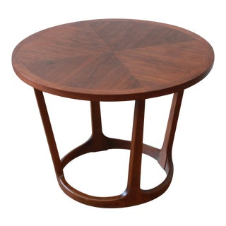 Adrian Pearsall Style Sculpted Walnut Side Table by Lane For Sale