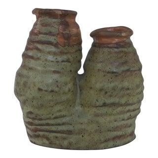 Mid-Century Modern Jd Baron Art Pottery Two Bud Vase