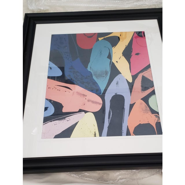 1980s Warhol Shoes Framed Print For Sale In Miami - Image 6 of 8