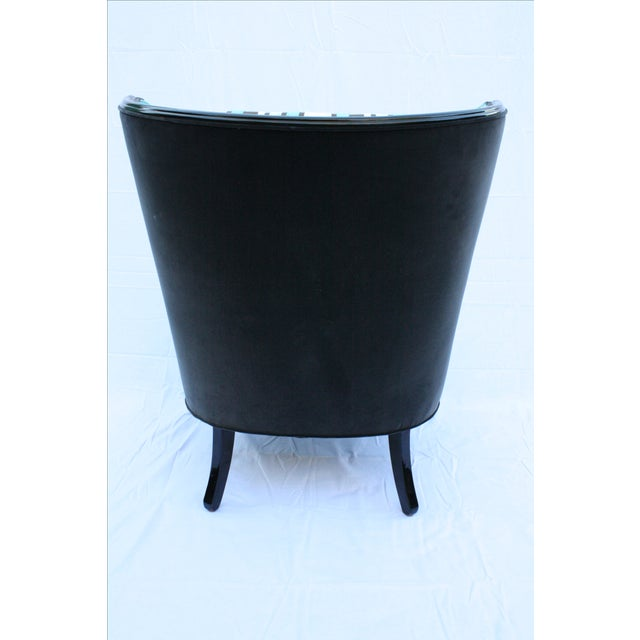 Vintage Round Wing Back Chair - Image 7 of 7