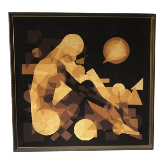 Abstract Figural Needlepoint For Sale