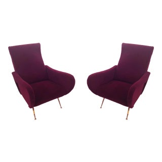 Marco Zanuso Italian Mid-Century Modern Lady Chairs - a Pair For Sale