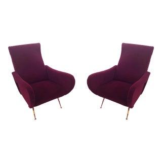 Marco Zanuso Italian Mid-Century Modern Lady Chairs - a Pair