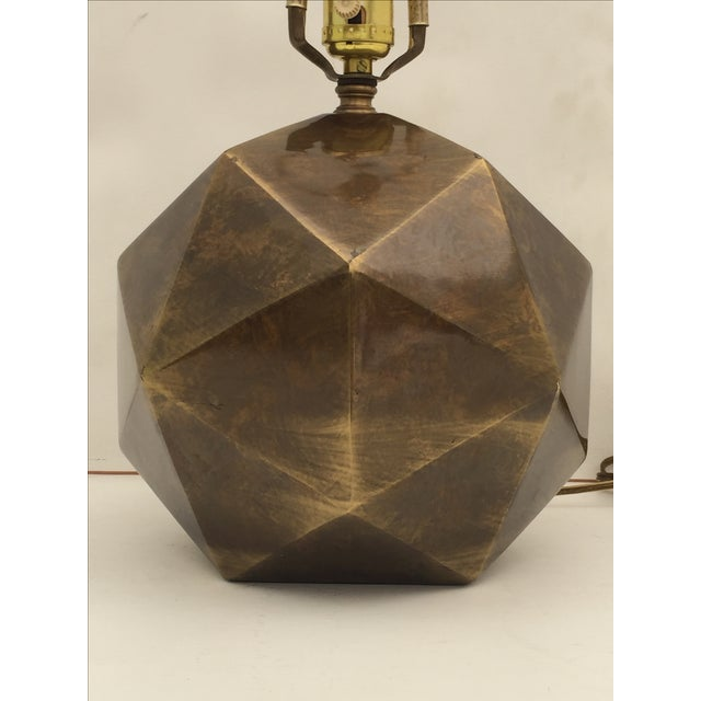 Bronzed Geometrical Lamp by Westwood - Image 2 of 9