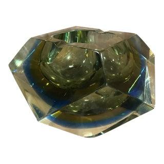 Vintage Mid-Century Venetian Glass Bowl For Sale