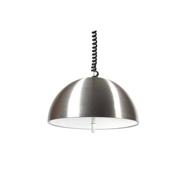 1970s Retractable Aluminum Ceiling Light - Image 3 of 6