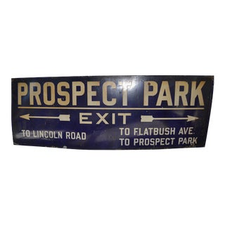 Brooklyn Prospect Park Subway Sign For Sale