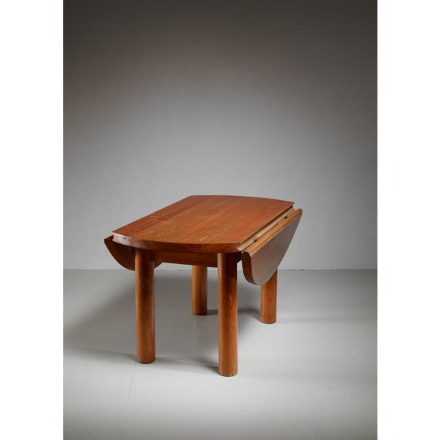 Charlotte Perriand Charlotte Perriand Drop-Leaf Dining Table from the Doron Hotel, France For Sale - Image 4 of 6