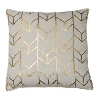 Geometric Chevron Metallic Cushion For Sale