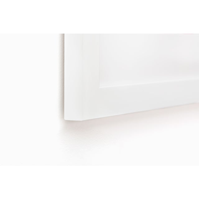 DETAILS: – Custom premium hardwood frame moulding in matte white finish – UV-blocking acrylic glass, which protects...