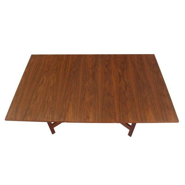 Herman Miller George Nelson Walnut Drop Leaf Dining Table Gate Leg For Sale - Image 4 of 10