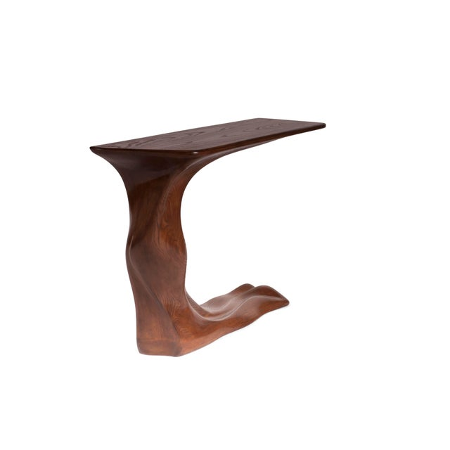 Not Yet Made - Made To Order Frolic Walnut Finish Console Table With Base For Sale - Image 5 of 9