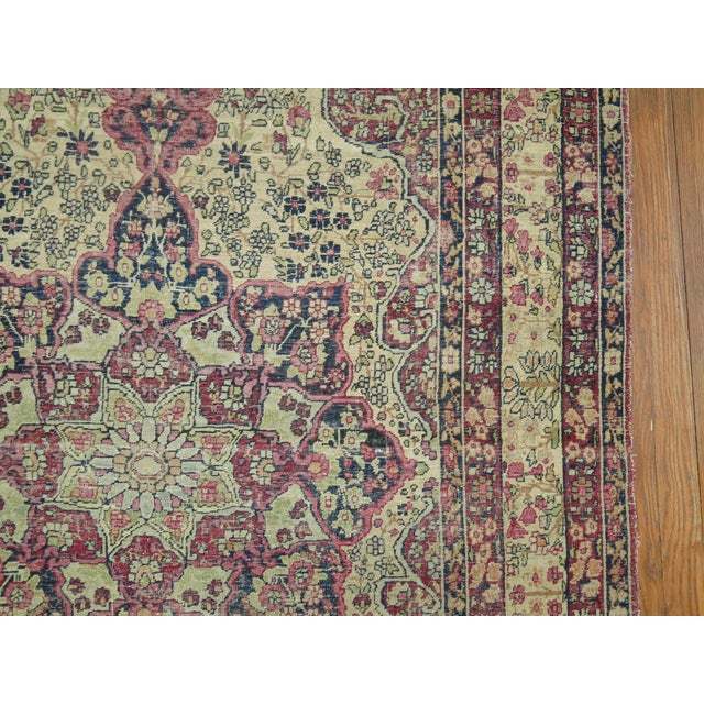 19th Century Lavar Kerman Rug, 4' x 6'4'' For Sale In New York - Image 6 of 11