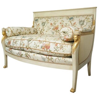 Early 20th Century Vintage French Empire Style Settee For Sale