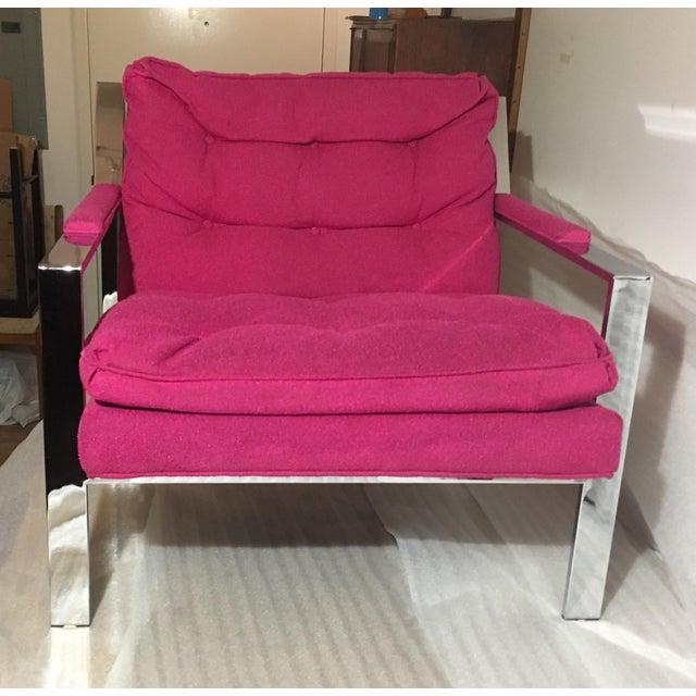 Pretty In Fuschia Cy Mann Lounge Chair Chairish