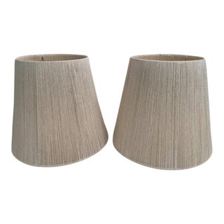 Set of Two Audoux Minet Style Rope Large Lamp Shades, 1960s For Sale