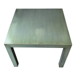 20th Century Rustic Painted Green Occasional Table For Sale