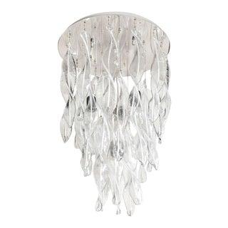 Italian Handblown Murano Glass Vortex Chandelier For Sale