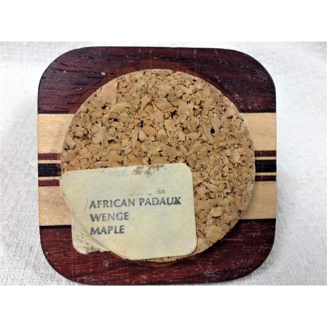 20th Century African Padauk Wenge Maple Ring/Trinket Box For Sale - Image 4 of 6