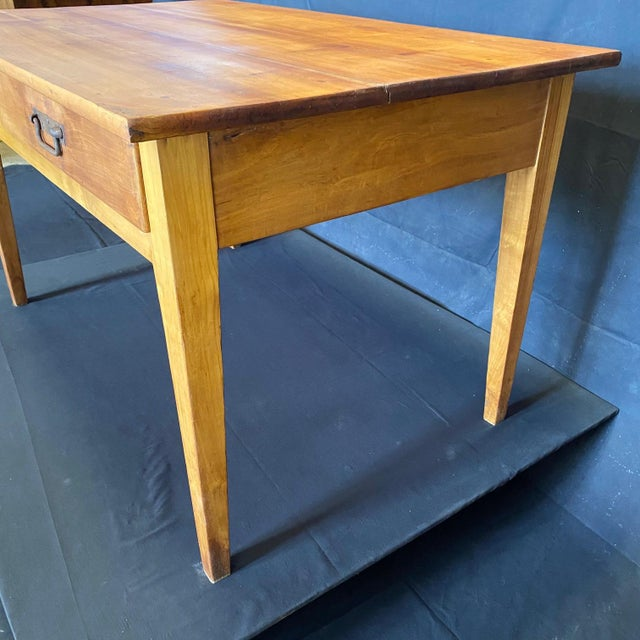 Rustic French 19th Century Natural Pine Desk For Sale - Image 3 of 11