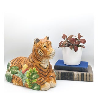 Late 20th Century Jungle Cat Leopard Cookie Jar Preview