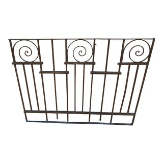 1900s Victorian Iron Gate Window Garden Fence For Sale