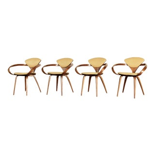 Set of Four Norman Cherner Pretzel Dining Chairs, Made by Plycraft, Usa, 1960s For Sale