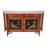 Image of Century Furniture Hollywood Regency Chinoiserie Faux Bamboo Credenza, Made in Italy For Sale