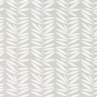 Sample - Schumacher Leaf Stripe Wallpaper in Mist Preview