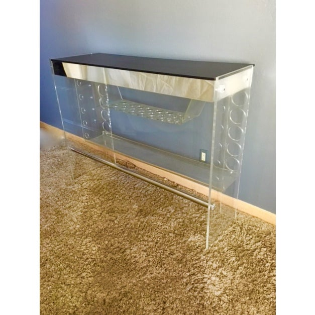 Lucite Hollywood Regency Lighted Bar Table - Image 6 of 8