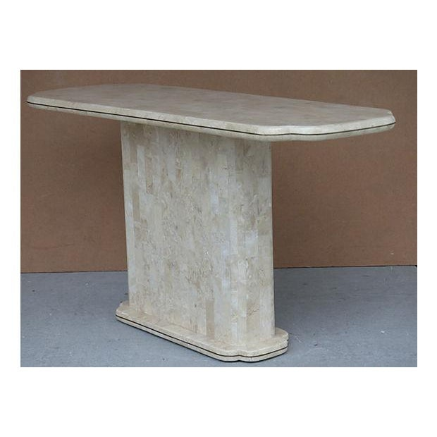 Maitland-Smith Style Tessellated Stone Console - Image 4 of 8