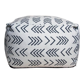Mudcloth Inspired Finnegan Pouf For Sale