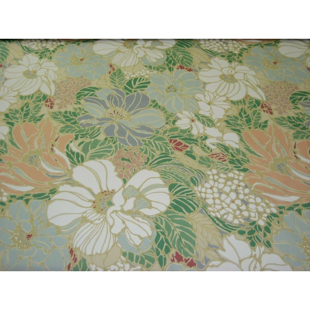 Vintage Floral Sunbrella Indoor/Outdoor Upholstery Fabric- 4 Yards For Sale In Providence - Image 6 of 6