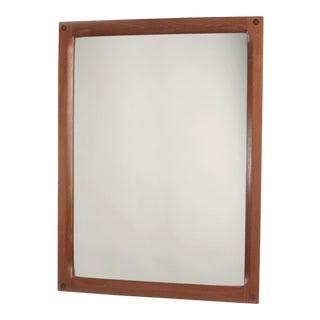 Vintage Aksel Kjersgaard Teak Mirror by Odder of Denmark - Marked No:164 - 1958 For Sale
