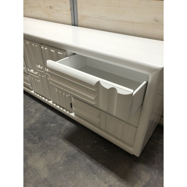 1960s Midcentury Brutalist Lacquered Credenza by Lane For Sale - Image 5 of 8