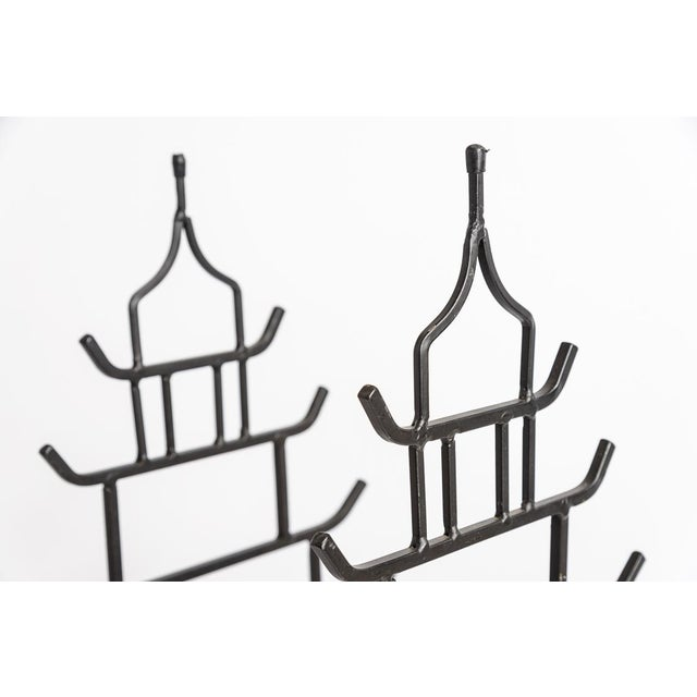 1970s Chinoiserie Steel Pagoda Shape Umbrella Stand For Sale - Image 5 of 9
