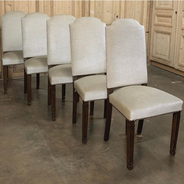 Brown Vintage Mid Century Neoclassical Dining Chairs- Set of 10 For Sale - Image 8 of 13