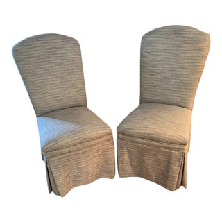 Skirted Parson Chairs - a Pair For Sale