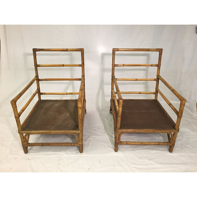 1930s Hollywood Regency Rattan Chairs - A Pair - Image 2 of 7