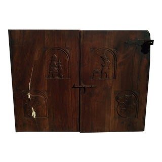 18th Century Hand Carved Oak Doors For Sale