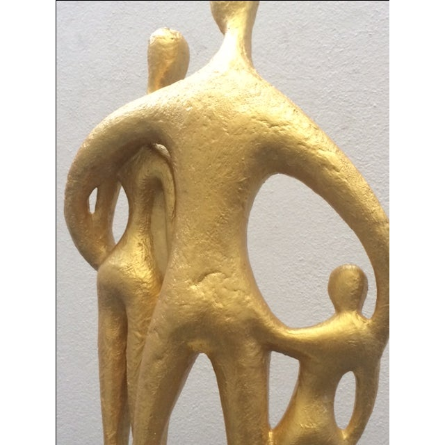 """Gold """"Family"""", Mid-Century Sculpture by Austin Prod For Sale - Image 8 of 10"""