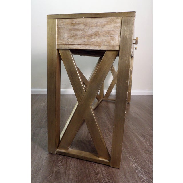 Early 21st Century Hooker Furniture Large Two Drawer Console Table For Sale - Image 5 of 7